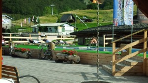 Swim at ski station below Tende